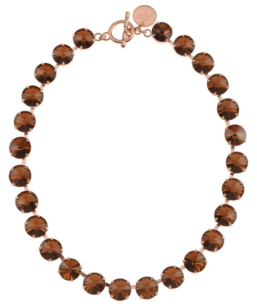 Rebekah Price Rivoli Necklace Rose Gold Smoked Topaz 149 00 Plaisirs Boutique